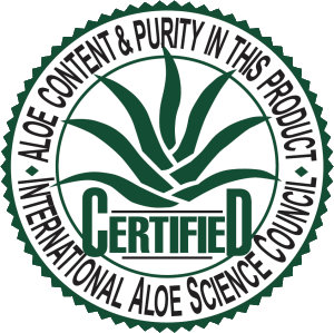 Certified organic aloe in Aloe M.P. Plus