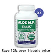 3 Bottles Aloe M.P. Plus